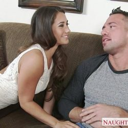 Small titted brunette gf Eva Lovia riding cock